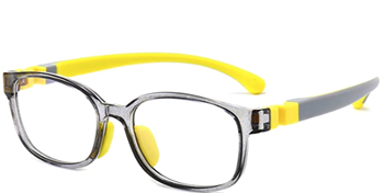 Picture of Blue Light Blocking Glasses for Kids Yellow Grey